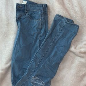 pacsun high rise skinny blue jeans